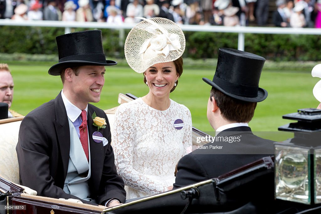 Catherine, Duchess of Cambridge and Prince William, Duke of Cambridge attend day 2 of Royal Ascot at Ascot Racecourse on June 15, 2016 in Ascot, England.