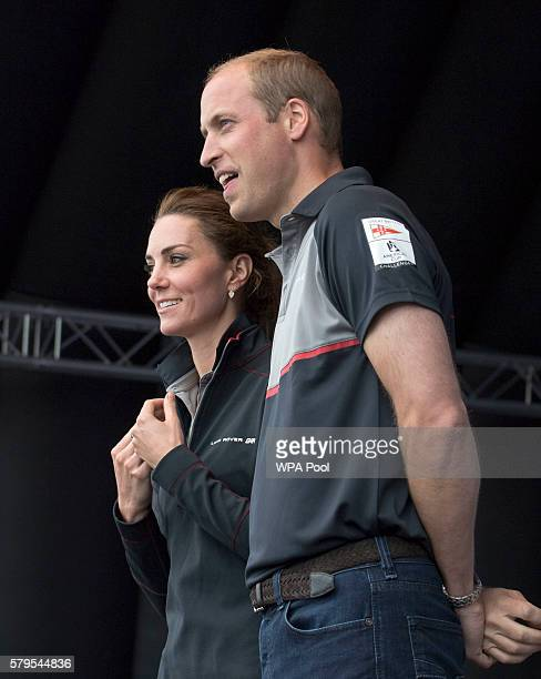 Catherine Duchess of Cambridge and Prince William Duke of Cambridge attend the America's Cup World Series on July 24 2016 in Portsmouth England