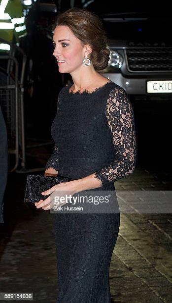Catherine Duchess of Cambridge and Prince William Duke of Cambridge arriving at the Royal Variety Performance in London
