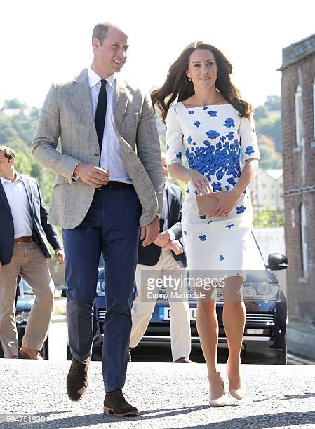 Catherine, Duchess of Cambridge and Prince William, Duke of Cambridge visit Youthscape on August 24, 2016 in Luton, England.