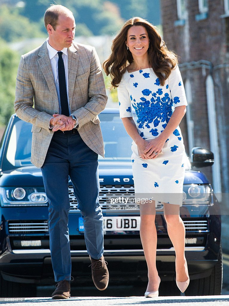 Catherine, Duchess of Cambridge and Prince William, Duke of Cambridge visit Bute Mills during a visit to Luton on August 24, 2016 in Luton, England.
