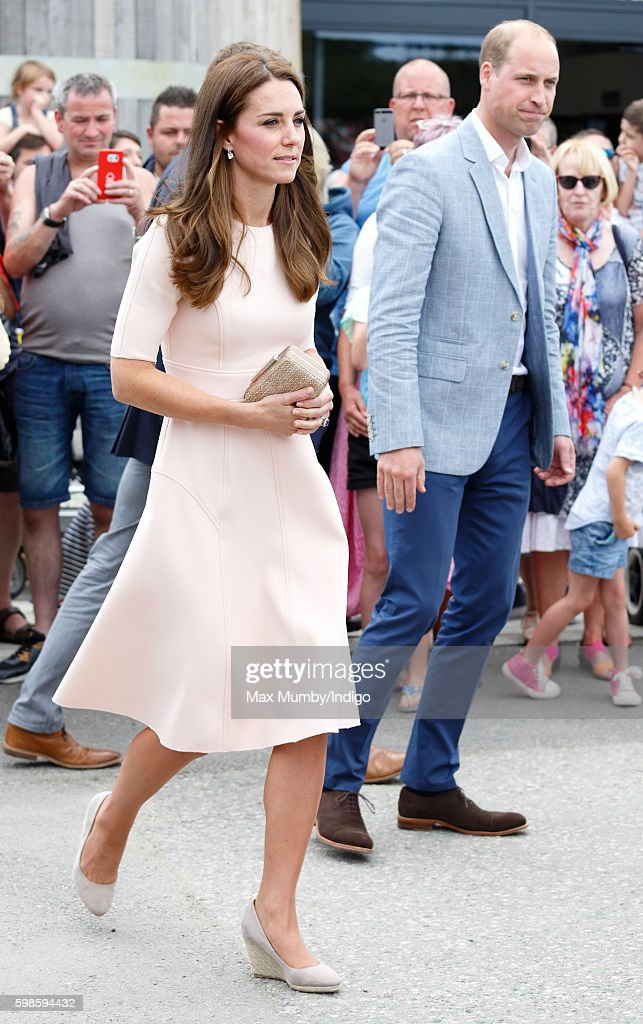 Catherine, Duchess of Cambridge and Prince William, Duke of Cambridge visit Healey's Cornish Cider Farm on September 1, 2016 in Truro, England.