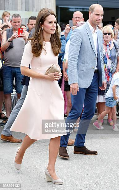 Catherine Duchess of Cambridge and Prince William Duke of Cambridge visit Healey's Cornish Cider Farm on September 1 2016 in Truro England