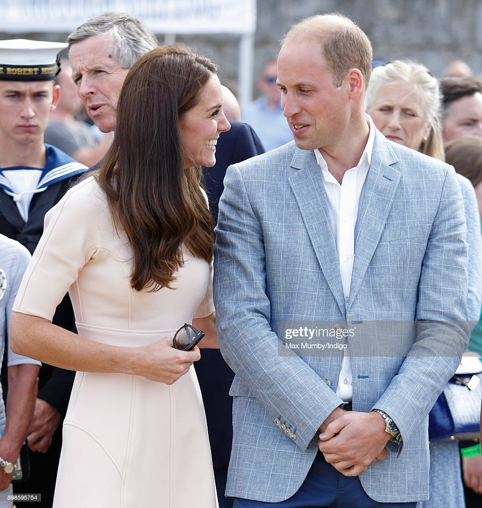 Catherine, Duchess of Cambridge and Prince William, Duke of Cambridge visit The Wave Project on Towan Beach on September 1, 2016 in Newquay, England.
