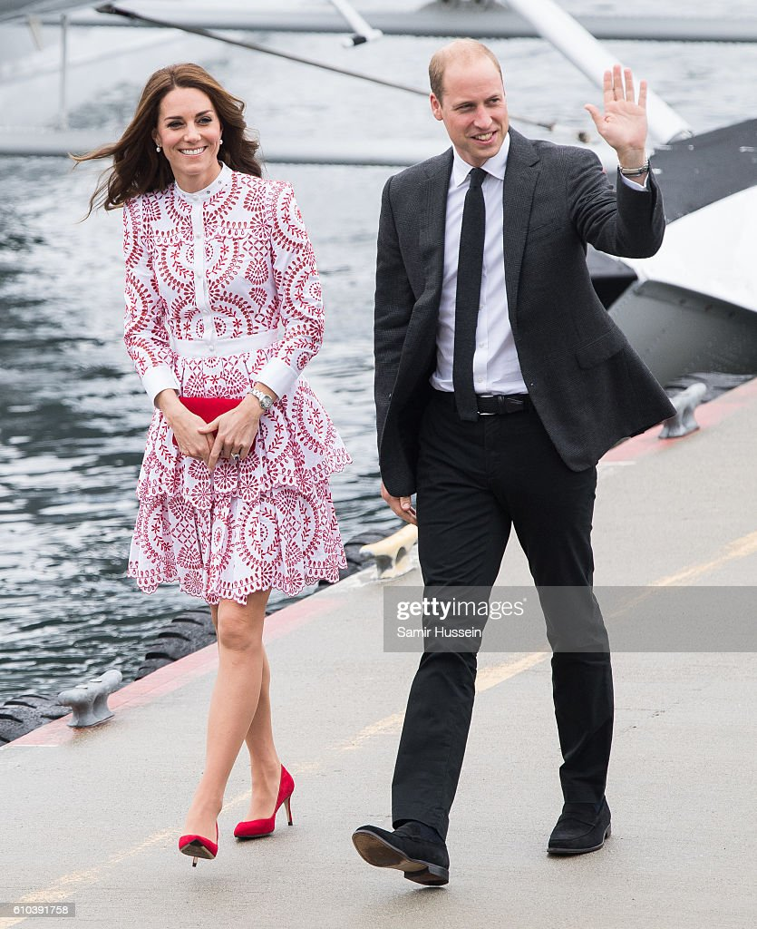 Catherine, Duchess of Cambridge and Prince William, Duke of Cambridge arrive by Sea Plane in Vancouver on September 25, 2016 in Vancouver, Canada.