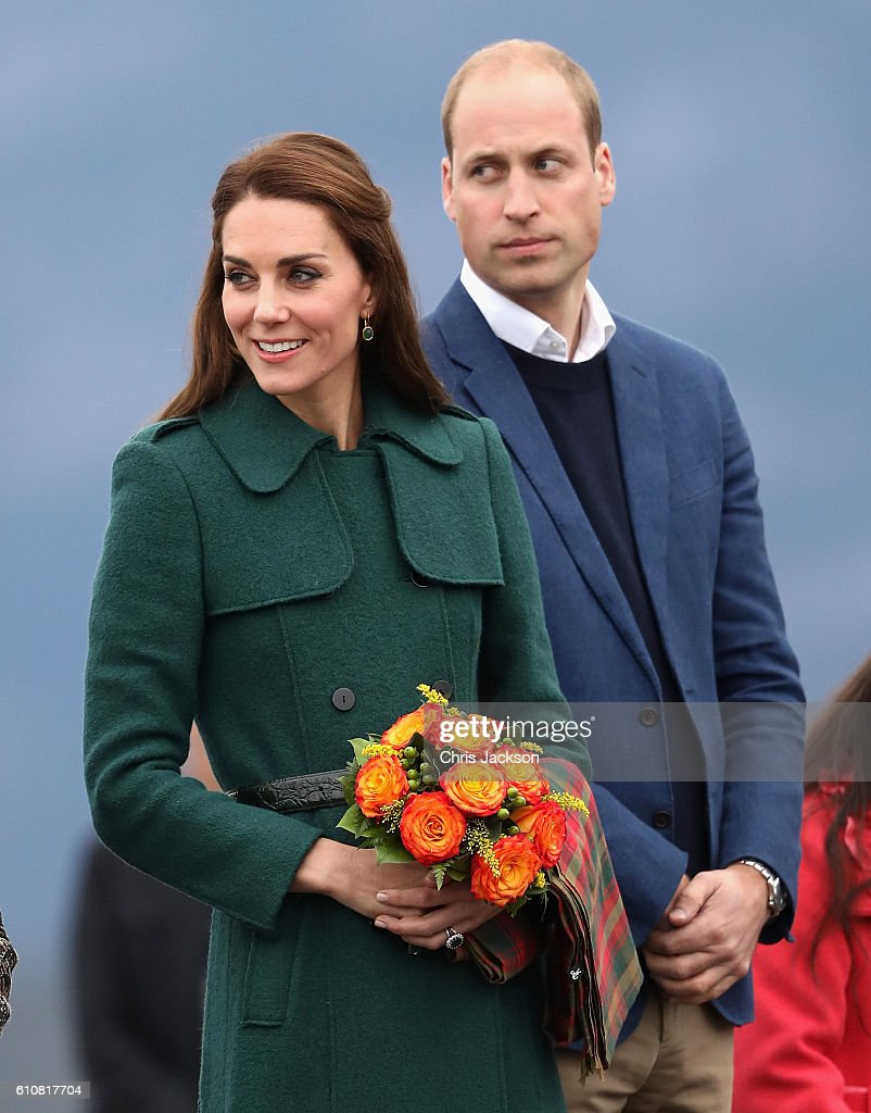 Catherine, Duchess of Cambridge and Prince William, Duke of Cambridge arrive in Whitehorse during the Royal Tour of Canada on September 27, 2016 in Whitehorse, Canada. Prince William, Duke of Cambridge, Catherine, Duchess of Cambridge, Prince George and Princess Charlotte are visiting Canada as part of an eight day visit to the country taking in areas such as Bella Bella, Whitehorse and Kelowna.