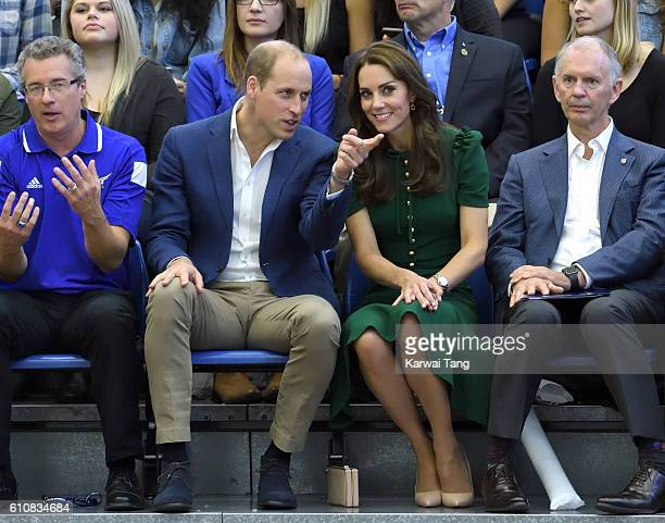 Catherine, Duchess of Cambridge and Prince William, Duke of Cambridge visit the University of British Columbia on September 27, 2016 in Kelowna,...