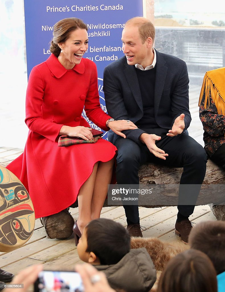2016 Royal Tour To Canada Of The Duke And Duchess Of Cambridge - Whitehorse And Carcross : News Photo