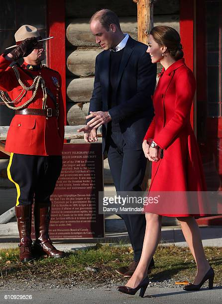 Catherine, Duchess of Cambridge and Prince William, Duke of Cambridge are seen leaving the MacBride Museum on September 28, 2016 in Whitehorse,...