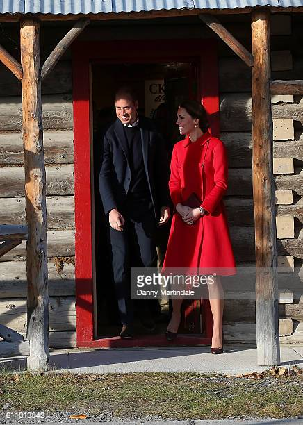 Catherine Duchess of Cambridge and Prince William Duke of Cambridge are seen leaving the MacBride Museum on September 28 2016 in Whitehorse Canada