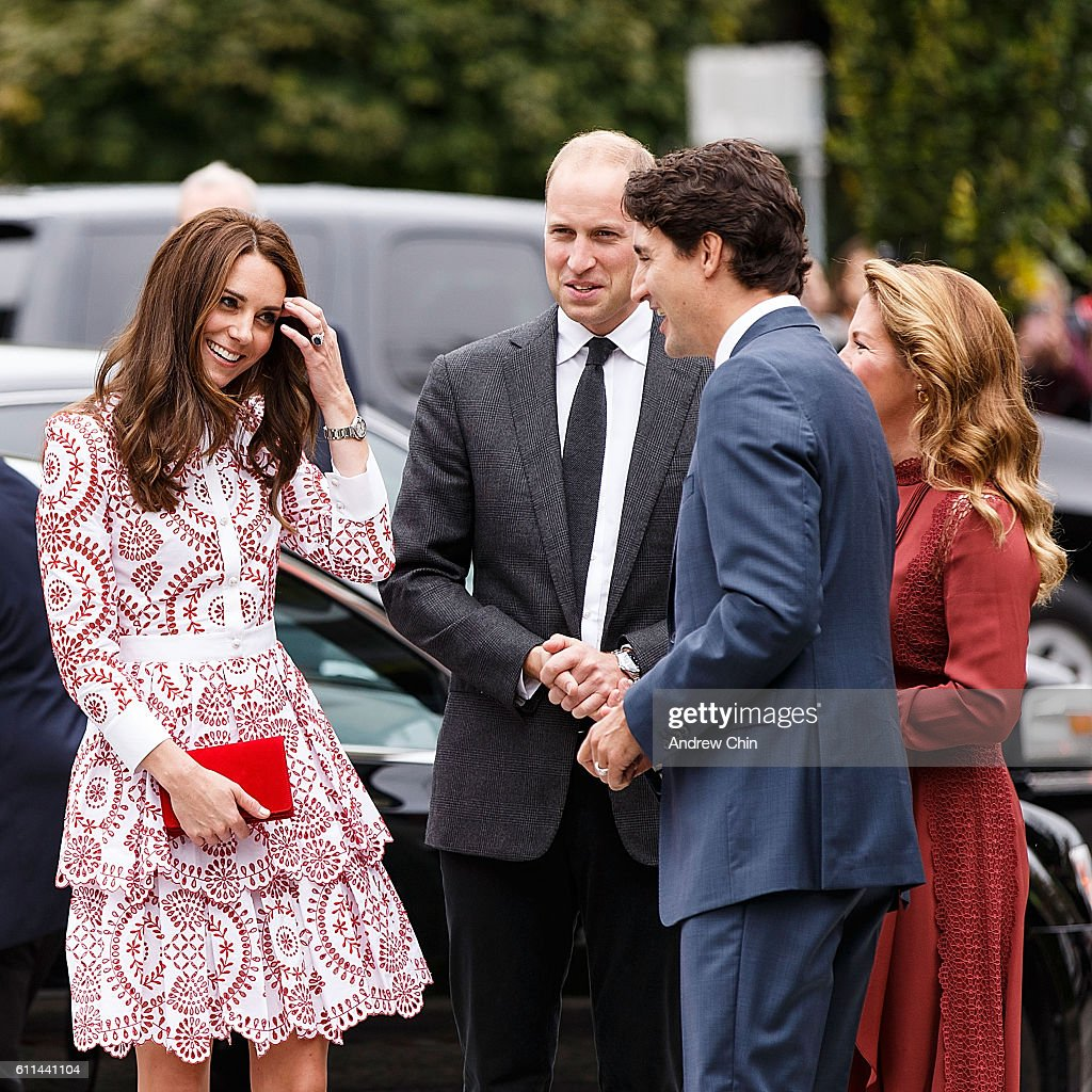 Catherine, Duchess of Cambridge and Prince William, Duke of Cambridge arrive at Immigrant Services Society of BC on September 25, 2016 in Vancouver, Canada. Prince William, Duke of Cambridge, Catherine, Duchess of Cambridge, Prince George and Princess Charlotte are visiting Canada as part of an eight day visit to the country taking in areas such as Bella Bella, Whitehorse and Kelowna.