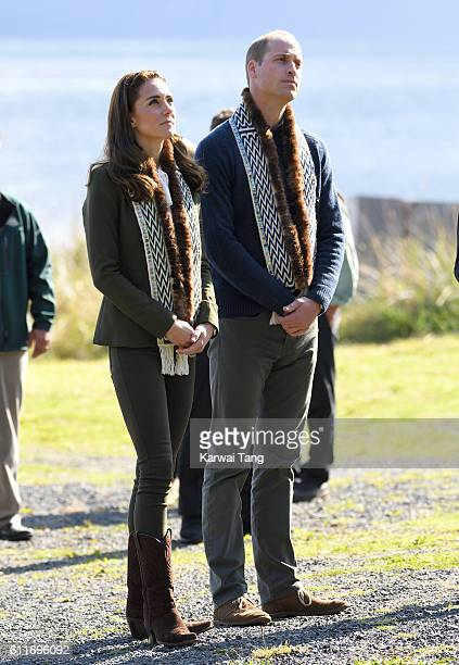 Catherine Duchess of Cambridge and Prince William Duke of Cambridge visit the Haida Heritage Centre and Museum on September 30 2016 in Haida Gwaii...