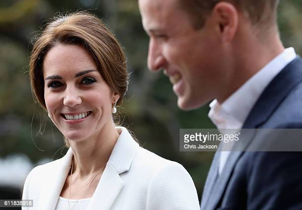 Catherine Duchess of Cambridge and Prince William Duke of Cambridge arrive at the Cridge Centre for the Family on the final day of their Royal Tour...
