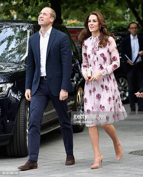 Catherine Duchess of Cambridge and Prince William Duke of Cambridge attend the World Mental Health Day celebration with Heads Together at the London...