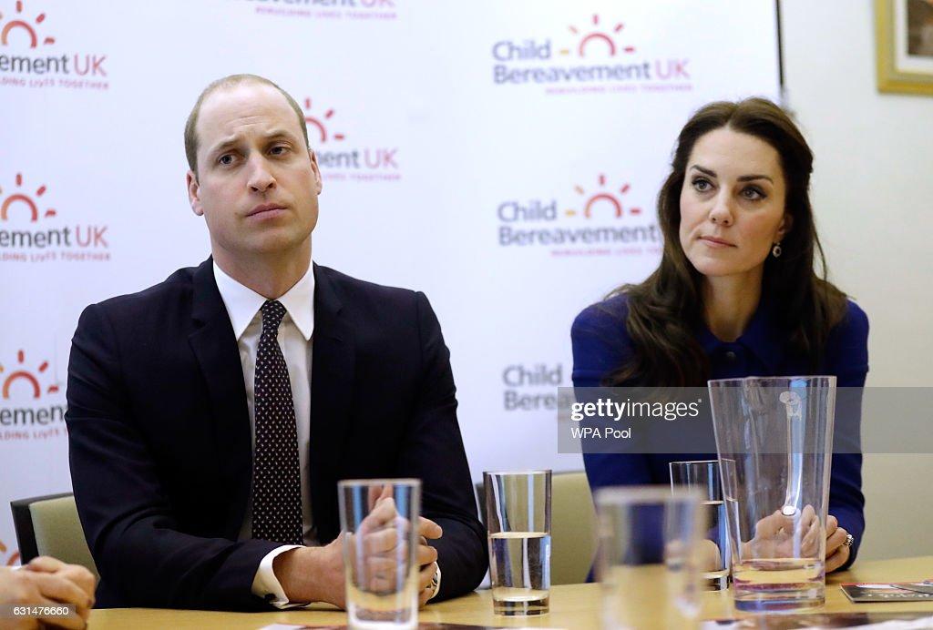The Duke & Duchess Of Cambridge Visit A Child Bereavement UK Centre : News Photo