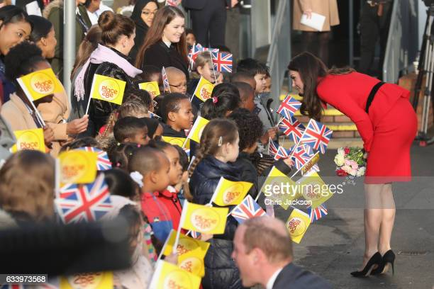 Catherine, Duchess of Cambridge and Prince William, Duke of Cambridge attend the Place2Be Big Assembly With Heads Together for Children's Mental...
