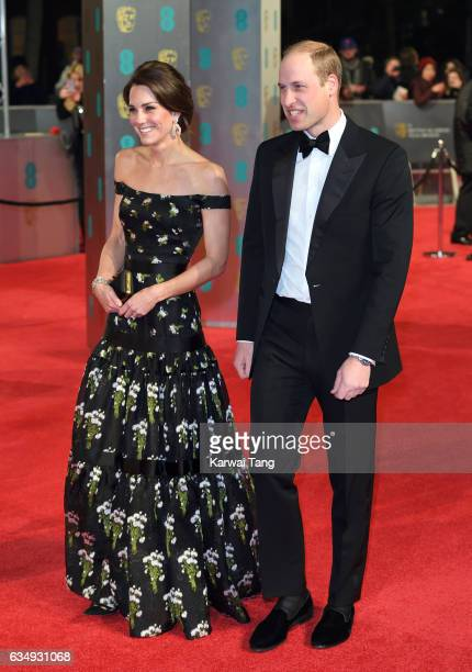 Catherine Duchess of Cambridge and Prince William Duke of Cambridge attend the 70th EE British Academy Film Awards at the Royal Albert Hall on...
