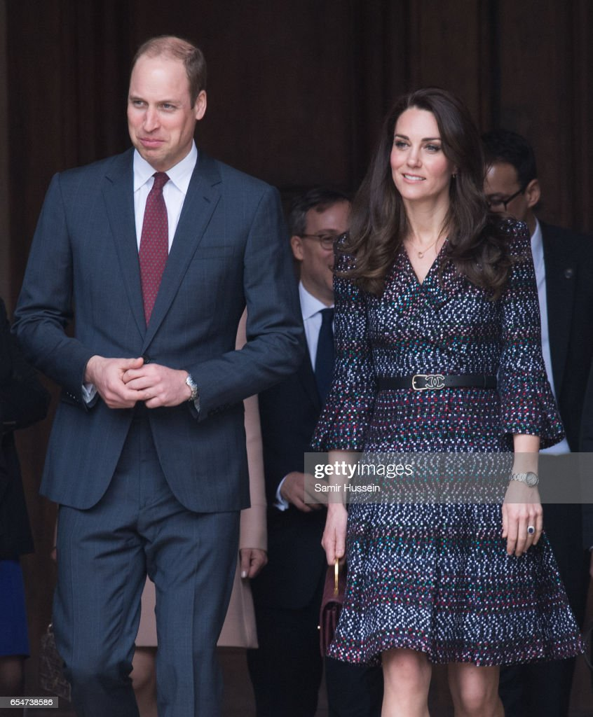 Catherine, Duchess of Cambridge and Prince William, Duke of Cambridge visit the Invalides on March 18, 2017 in Paris, France. The Duke and Duchess are on a two day tour of France.