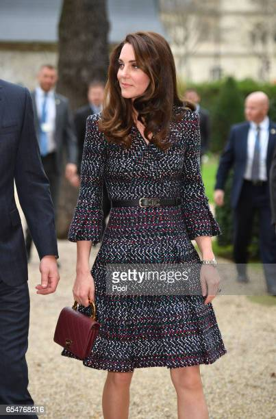 Catherine Duchess of Cambridge and Prince William Duke of Cambridge visit Les Invalides military hospital during an official twoday visit to Paris on...