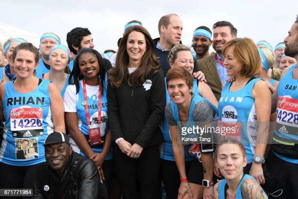 Catherine, Duchess of Cambridge and Prince William, Duke of Cambridge attend the 2017 Virgin Money London Marathon on April 23, 2017 in London,...