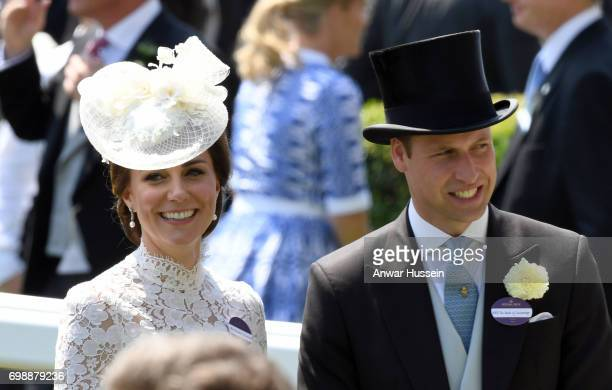 Catherine Duchess of Cambridge and Prince William Duke of Cambridge attend the first day off Royal Ascot 2017 at Ascot Racecourse on June 20 2017 in...