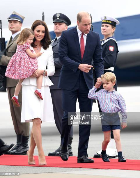 Catherine Duchess of Cambridge and Prince William Duke of Cambridge with their children Princess Charlotte of Cambridge and Prince George of...