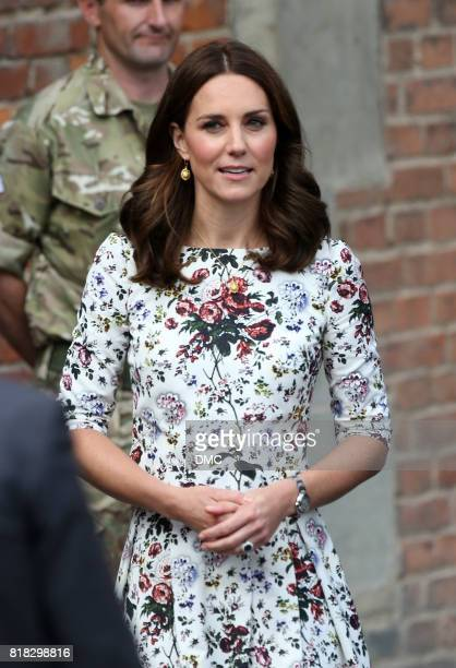 Catherine, Duchess of Cambridge and Prince William, Duke of Cambridge visit the Gdansk town market during an official visit to Poland and Germany on...