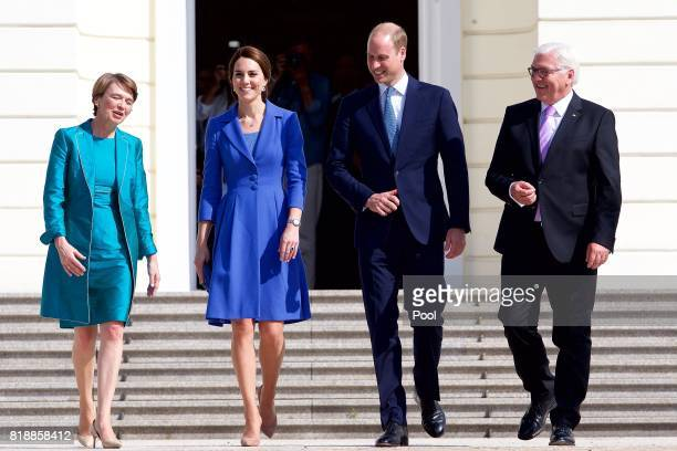 Catherine Duchess of Cambridge and Prince William Duke of Cambridge meet with German President Frank Walter Steinmeier and Elke Budenbender at...
