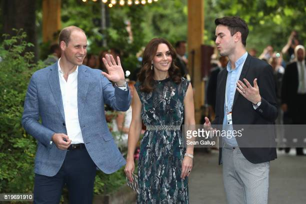 Catherine Duchess of Cambridge and Prince William Duke of Cambridge arrive for a reception with creatives at 'Claerchens Ballhaus' the last original...