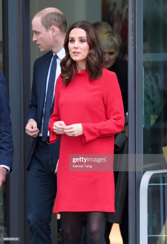 Catherine, Duchess Of Cambridge and Prince William, Duke of Cambridge attend a 'Stepping Out' session at Media City on December 6, 2017 in Manchester, England. The session is a focus group where young people are able to give children's television editorial staff and content producers their view of how they respond to new programmes under production.