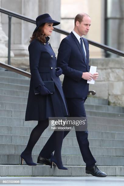 Catherine Duchess of Cambridge and Prince William Duke of Cambridge attend the Grenfell Tower national memorial service held at St Paul's Cathedral...