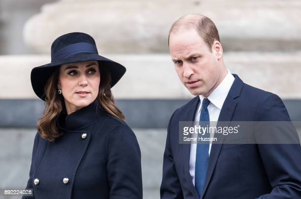 Catherine, Duchess of Cambridge and Prince William, Duke of Cambridge attend the Grenfell Tower national memorial service held at St Paul's Cathedral...