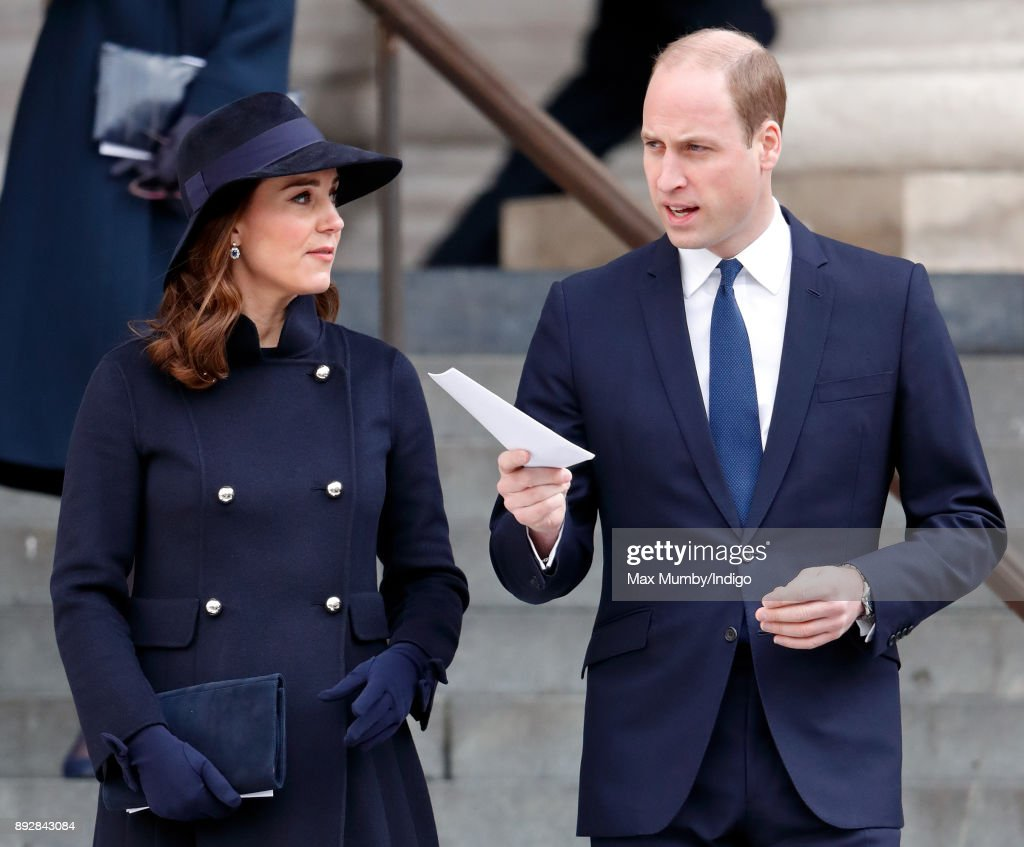 Catherine, Duchess of Cambridge and Prince William, Duke of Cambridge attend the Grenfell Tower national memorial service at St Paul's Cathedral on December 14, 2017 in London, England. The multi-faith memorial service attended by The Prime Minister and members of The Royal Family marks the six month anniversary of the Grenfell Tower fire in which 71 people died.