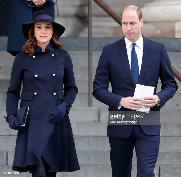 Catherine Duchess of Cambridge and Prince William Duke of Cambridge attend the Grenfell Tower national memorial service at St Paul's Cathedral on...