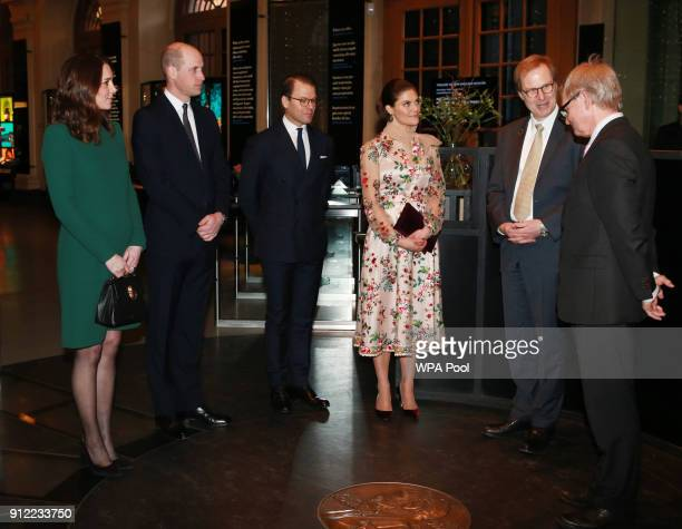 Catherine Duchess of Cambridge and Prince William Duke of Cambridge visit the Nobel Museum accompanied by Crown Princess Victoria and Prince Daniel...