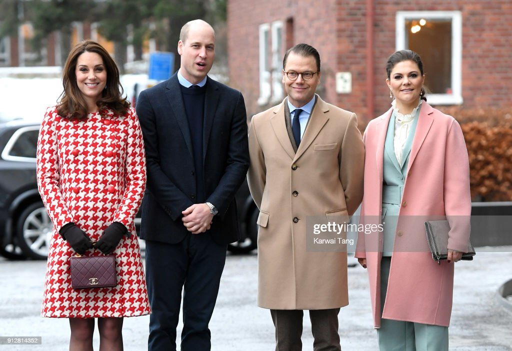 The Duke And Duchess Of Cambridge Visit Sweden And Norway - Day 2 : Nieuwsfoto's