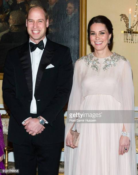 Catherine, Duchess of Cambridge and Prince William, Duke of Cambridge attend dinner at the Royal Palace on day 3 of their visit to Sweden and Norway...