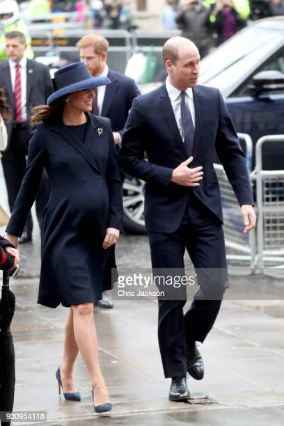 Catherine Duchess of Cambridge and Prince William Duke of Cambridge attend the 2018 Commonwealth Day service at Westminster Abbey on March 12 2018 in...