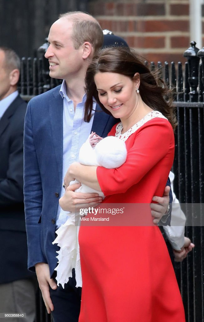 The Duke & Duchess Of Cambridge Depart The Lindo Wing With Their Baby Boy : News Photo