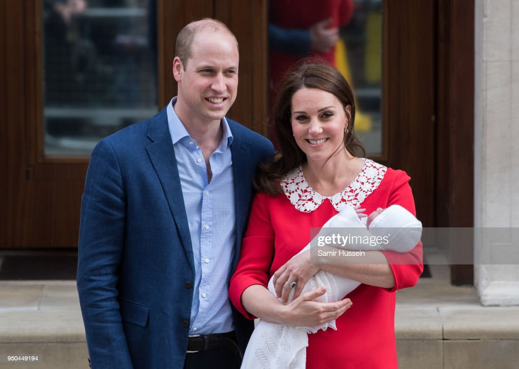 The Duke & Duchess Of Cambridge Depart The Lindo Wing With Their New Son : News Photo