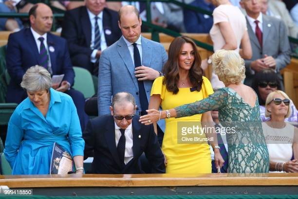 Catherine Duchess of Cambridge and Prince William Duke of Cambridge with British Prime Minister Theresa May and her husband Philip May and Gill Brook...