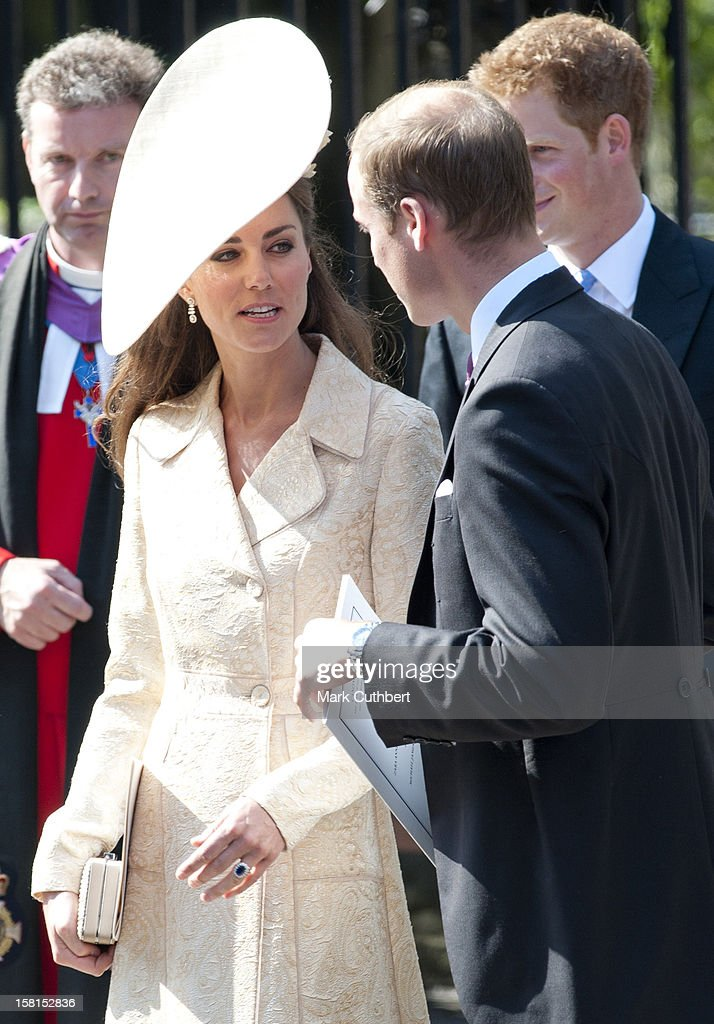Catherine, Duchess Of Cambridge And Prince William Leave The Wedding Of Zara Phillips And Mike Tindall At Canongate Kirk In Edinburgh, Scotland.
