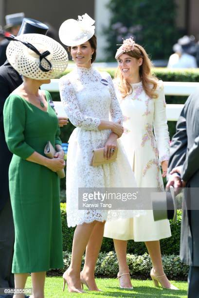 Catherine Duchess of Cambridge and Princess Beatrice of York attend Royal Ascot 2017 at Ascot Racecourse on June 20 2017 in Ascot England