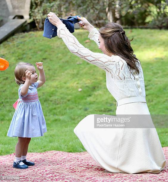 Catherine, Duchess of Cambridge and Princess Charlotte of Cambridge attend a children's party for Military families during the Royal Tour of Canada...