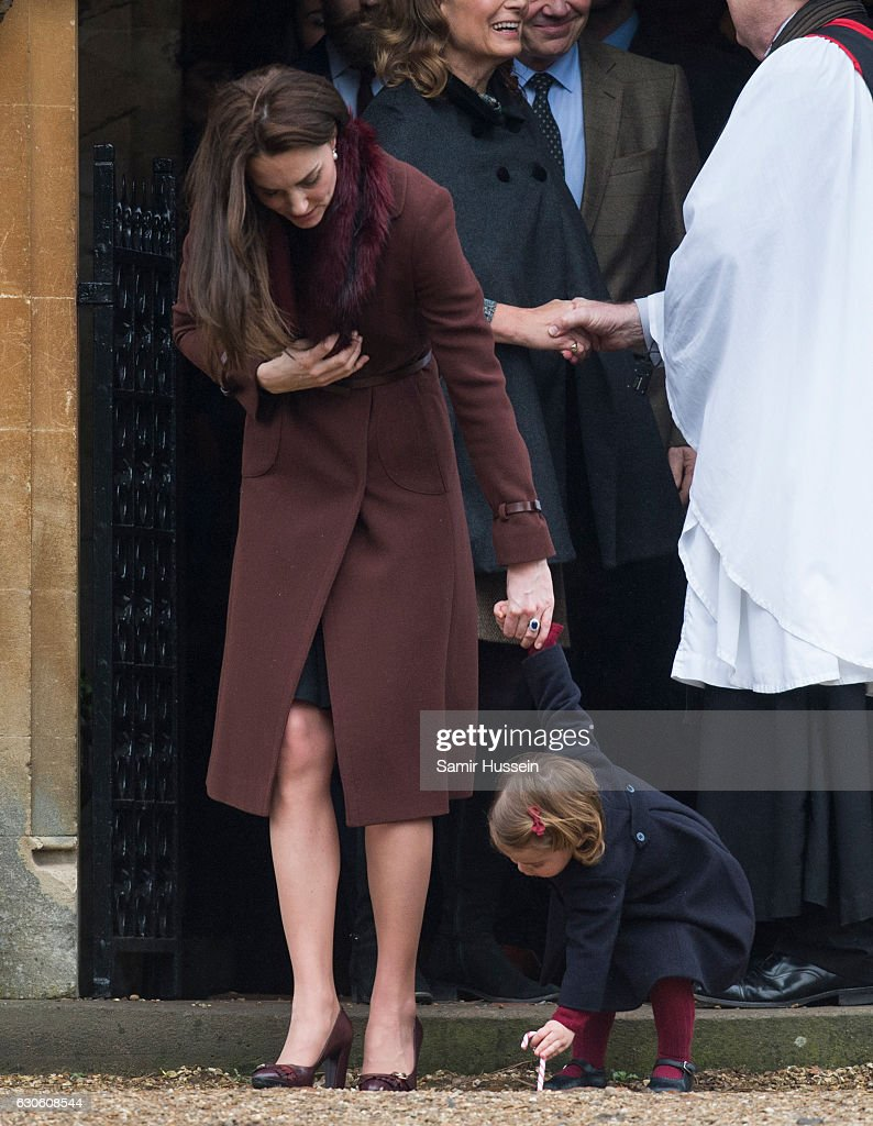 The Middleton Family Attend Church On Christmas Day : ニュース写真