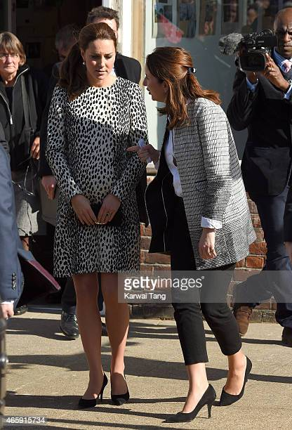 Catherine Duchess of Cambridge and Rebecca Deacon departs after visiting the Resort Studios on March 11 2015 in Margate England