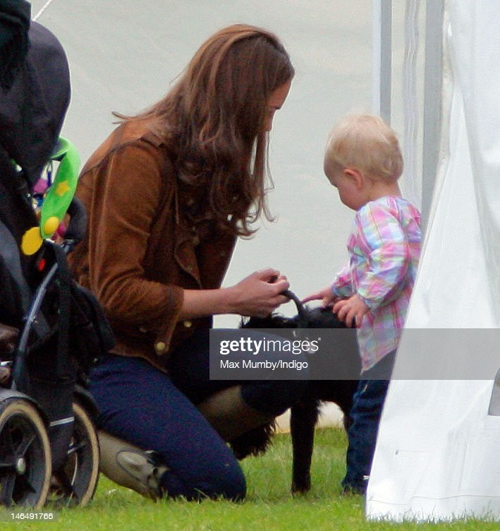 Catherine, Duchess of Cambridge and Savannah Phillips attend The Golden Metropolitan Polo Club Charity Cup polo match, in which Prince William, Duke of Cambridge and Prince Harry played, at the Beaufort Polo Club on June 17, 2012 in Tetbury, England.