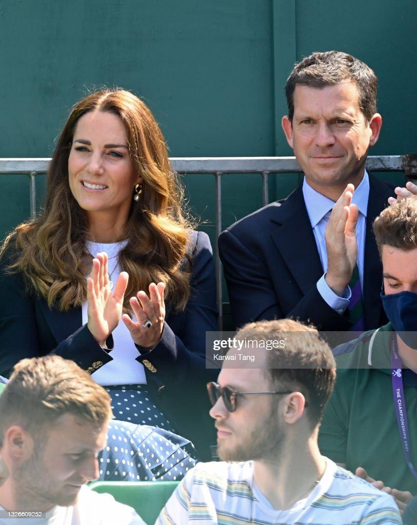 Wimbledon Celebrity Sightings - Day 5 : News Photo