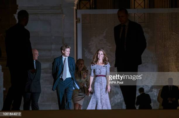 Catherine Duchess of Cambridge and Tristram Hunt attend the opening of the VA Photography Centre at Victoria Albert Museum on October 10 2018 in...