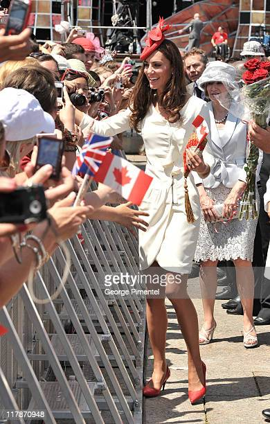 Catherine, Duchess of Cambridge arrive at Parliament Hill for Canada Day Noon Show Celebrations on July 1, 2011 in Ottawa, Canada.